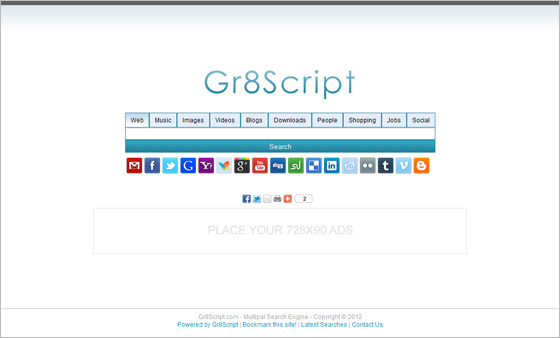Search Engine Script – AdSense Powered Website